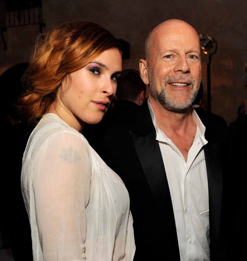 Rumer Willis and Bruce Willis