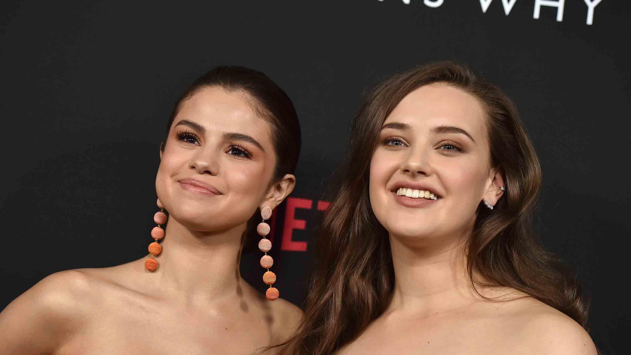 Katherine Langford and Selena Gomez